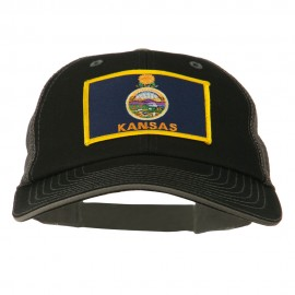 Big Mesh State Kansas Patch Cap