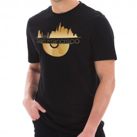 Golden Record San Francisco Graphic Design Short Sleeve Cotton Jersey T-Shirt