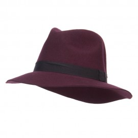 Women's Wool Felt Big Brim Fedora