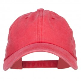 Unstructured Pigment Dyed Cotton Cap - Red