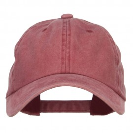 Unstructured Pigment Dyed Cotton Cap - Wine
