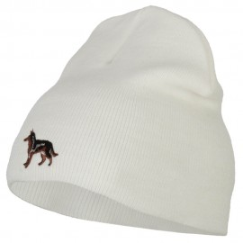 German Shepard Dog Embroidered Knitted Short Beanie