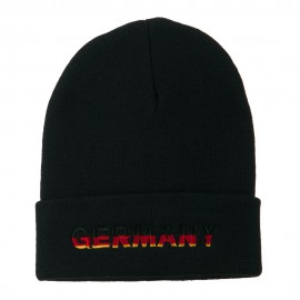 Germany Embroidered Long Beanie