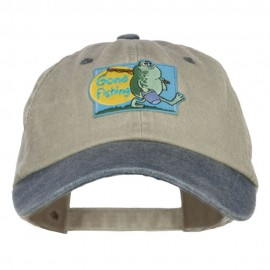 Gone Fishing Patched Two Tone Washed Cap