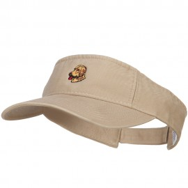 Golden Retriever Head Embroidered Pro Style Cotton Washed Visor