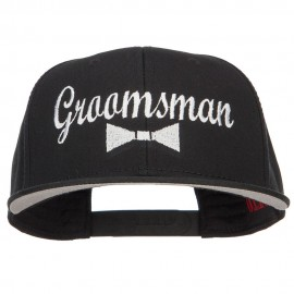 Groomsman Bow Tie Embroidered Cotton Snapback