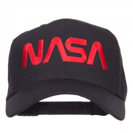 NASA Logo Font Embroidered Cap