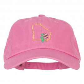 Georgia Rosa Laevigata with Map Embroidered Unstructured Washed Cap