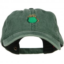 Pot of Gold Embroidered Washed Cotton Cap