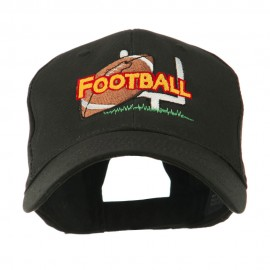 Football Field Goal Post and Ball Embroidered Cap