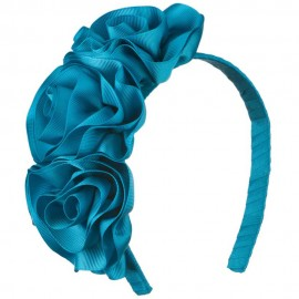 3 Grosgrain Roses Ribbon Fascinator