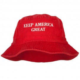 Keep America Great Two Line Letters Embroidered Dyed Bucket Hat
