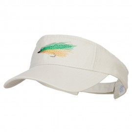 Green Fly Fishing Embroidered Pro Style Cotton Washed Visor