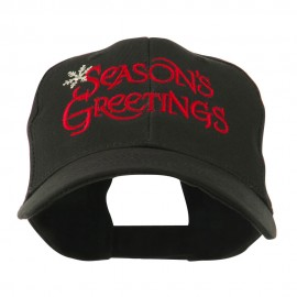 Season's Greetings with Snowflake Embroidered Cap