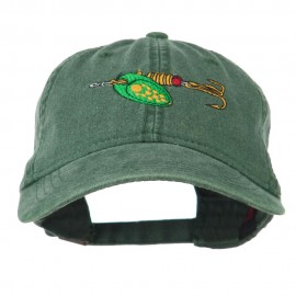 Fishing Green Spinner Embroidered Washed Cap - Dark Green