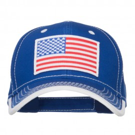 American Flag Patched Superior Cotton Cap