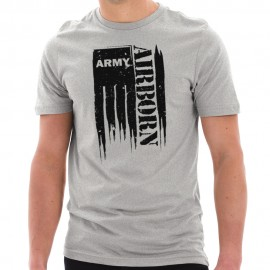 Army Grunge Flag Graphic Design Short Sleeve Cotton Jersey T-Shirt