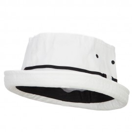 Big Size Striped Hat Band Fisherman Bucket Hat