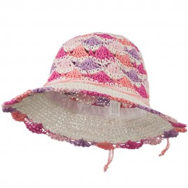 Girl's Scallop Designed Hat