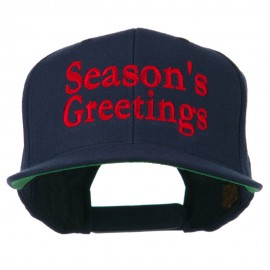Seasons Greetings Embroidered Snapback Cap