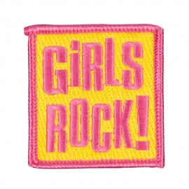 Girl Things Embroidered Patches