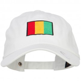 Guinea Flag Embroidered Unstructured Cap