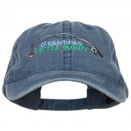 Grandpas Little Buddy Embroidered Washed Cap