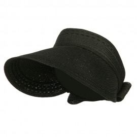 Ribbon Roll Up Gardening Visor - Black
