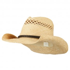 Women's Vented Weave Cowboy Hat - Natural