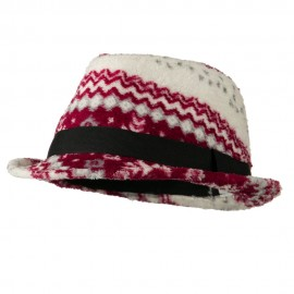 Girls Acrylic Blend Winter Design Fedora