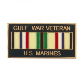 Gulf War Veteran Ribbon Cloisonne Military Pins