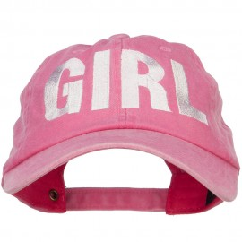 Girl Embroidered Dyed Unstructured Cap