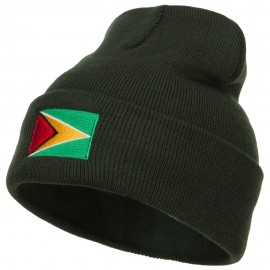 Guyana Flag Embroidered Long Beanie