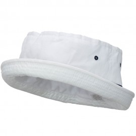 Big Size Striped Roll Up Bucket Hat