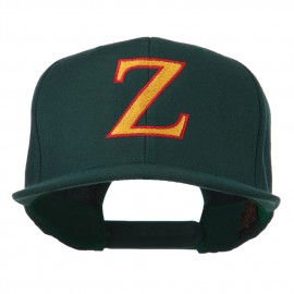 Greek Alphabet Zeta Embroidered Flat Bill Cap