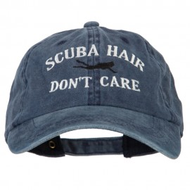 Scuba Hair Don't Care Embroidered Washed Cotton Twill Cap