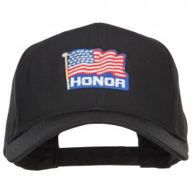 Honor American Flag Patched Twill Cap