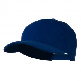 Low Profile Structured Heavy Brushed Cotton Cap - Royal