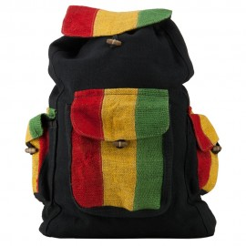 Rasta Three Pocket Hemp Backpack