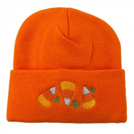 Halloween Candies Embroidered Long Beanie