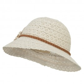 Girl's Lace Flower Bucket Hat