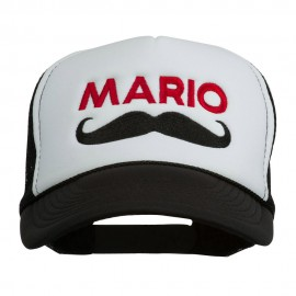 Mario Mustache Embroidered Foam Mesh Cap