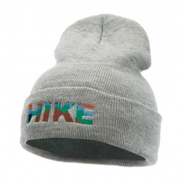 Hike Embroidered 12 Inch Long Knitted Beanie