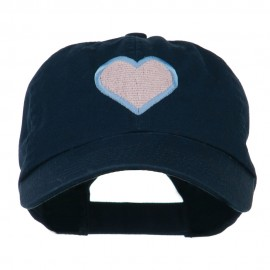 Heart with Outline Embroidered Cap