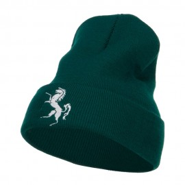 Horse Emblem Embroidered Long Beanie
