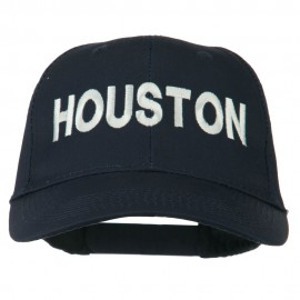Houston Embroidered Cotton Twill Snapback Cap - Navy