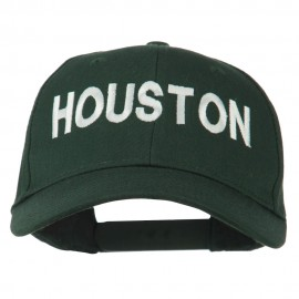 Houston Embroidered Cotton Twill Snapback Cap