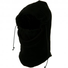 3 in 1 Heavyweight Fleece Hood Mask - Black