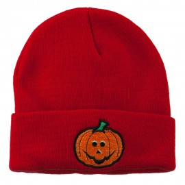 Halloween Jack o Lantern Embroidered Long Beanie