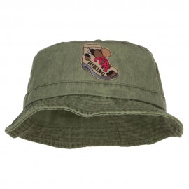 Hiking Shoes Patched Washed Bucket Hat